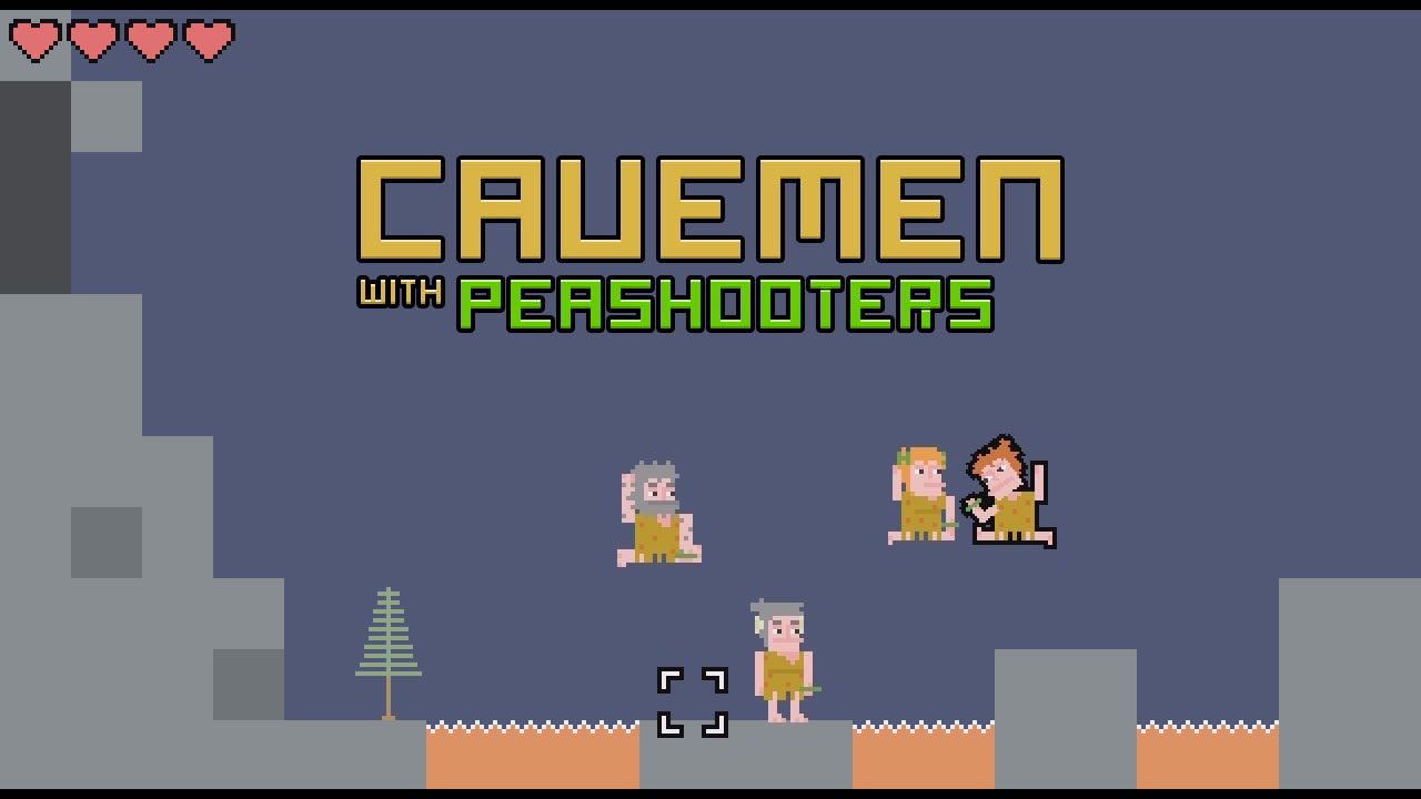 Cavemen With Peashooters